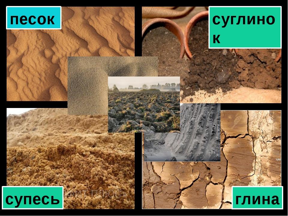 Схема - песок, супесь, суглинок, глина